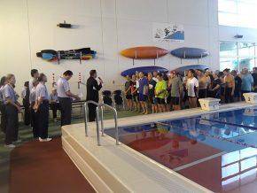 水泳競技開会式の様子